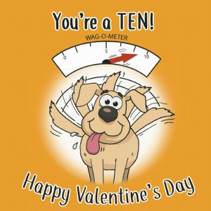 CS7  Funny Valentines Day Card From The Dog
